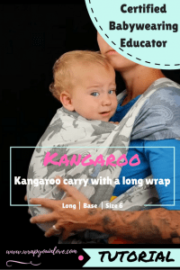 Kangaroo Carry with a long wrap Image