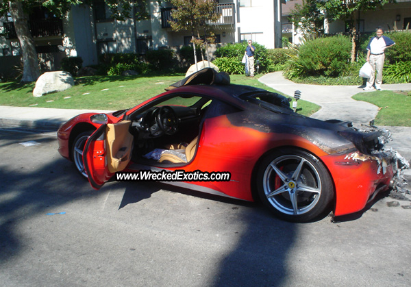 Another Day Another Ferrari 458 Italia Wreck