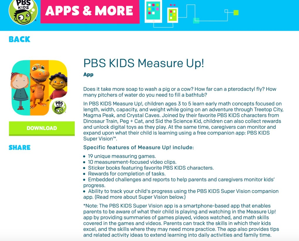 PBS Kids Measure Up Screenshot
