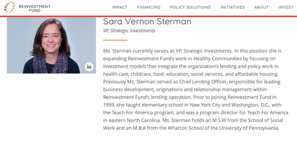 Sara Sterman Reinvestment Fund