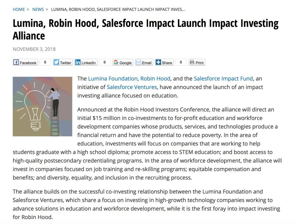 Lumina Robin Hood Salesforce