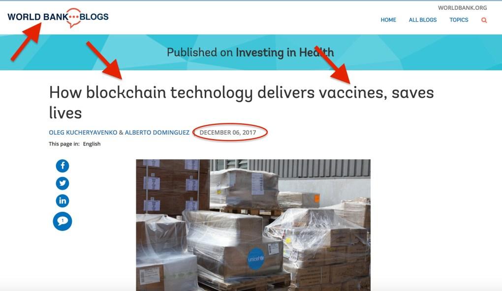 Blockchain Vaccines World Bank