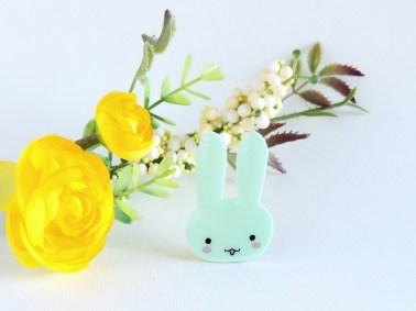Aqua bunny pin