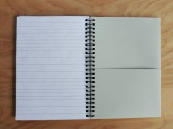 Notebook, inside. There's a nice pocket inside the back cover.