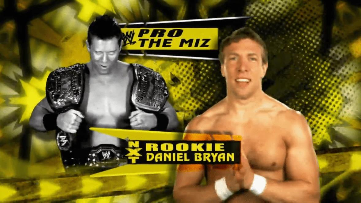 Imagem que mostra Daniel Bryan e The Miz, participantes da primeira temporada do NXT