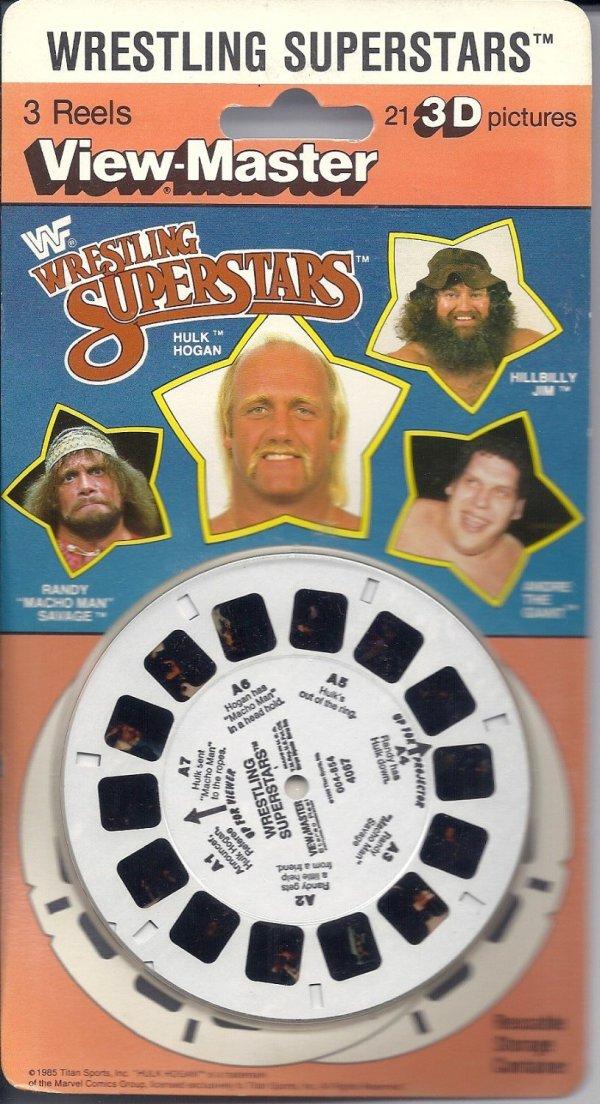 Wwf Gift Center. WWF Superstars Wrestling View-Master