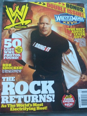 WWE Magazine April/May 2011 - The Rock Double Issue