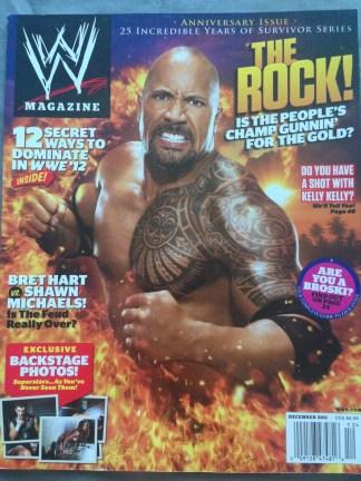 WWE Magazine December 2011 - The Rock