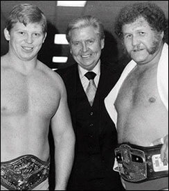 Bob Backlund and Vince McMahon, Sr. and Harley Race - wrestlingbiographies.com