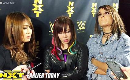 WWEで合体天空の逸女紫雷イオ&海賊姫カイリ・セイン