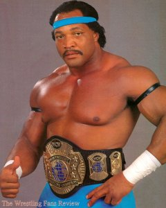 Simmons as the WCW World Champion.
