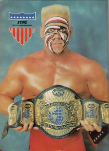 Sting continues to be a popular wrestler in the 90s.