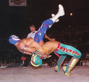 Ultimo Dragon gave a good fight against Rey Mysterio Jr.