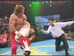 Chris Benoit and Eddie Guerrero in action.