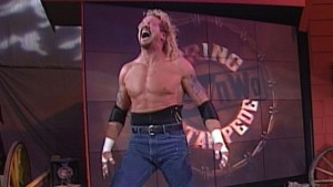 WCW DDP circa 1998, with trademark taped ribs.
