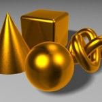 3D材質練習-黃金 拉絲金屬