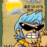 【部落格小玩意】羅賓 佛朗基天氣預報小掛件