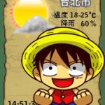 【部落格小玩意】魯夫天氣預報小掛件