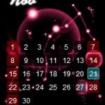 【部落格小玩意】星座月曆