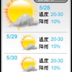 【部落格小玩意】三日天氣預報