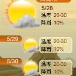 【部落格小玩意】三日天氣預報-自然風