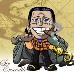 One Piece -Sir Crocodile flash小時鐘