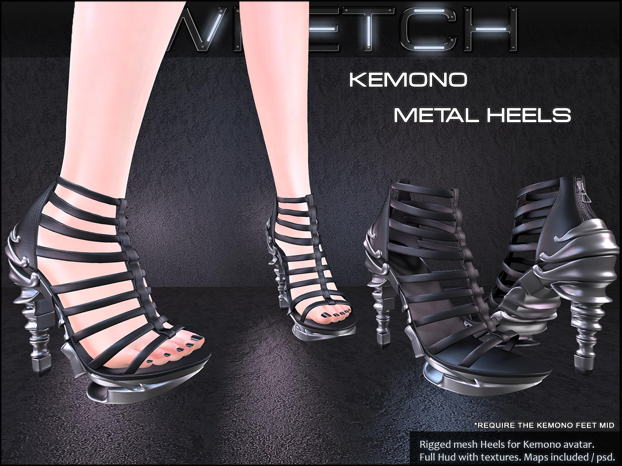 Wretch - High quality mesh for Second Life