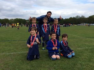 U6 Mini-Rangers With Coach Rob Monks At The Fleet Spurs Football Festival, May 2015