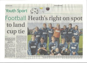WRFC U12 Warriors Surrey Advertiser 09.10.15
