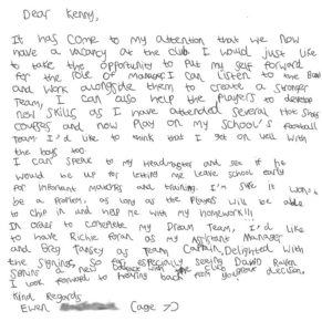 Ewens' Letter Captures a Club's Attention....