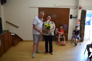 Julie Rowland, Northmead Tuck Shop Manager, Receives Her Award