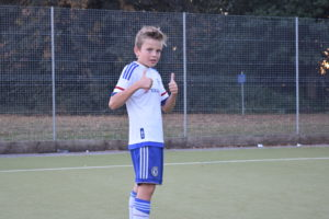 U13 Warrior Jack Gives the New Facility the Thumbs-Up