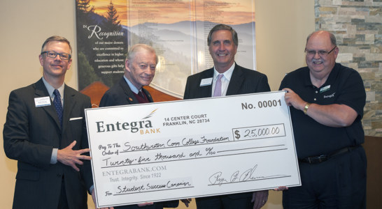Entegra donates $25,000 during SCC launch of 'March to a Million' effort