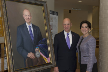 Portrait of Belcher unveiled, to be added to WCU's presidential gallery