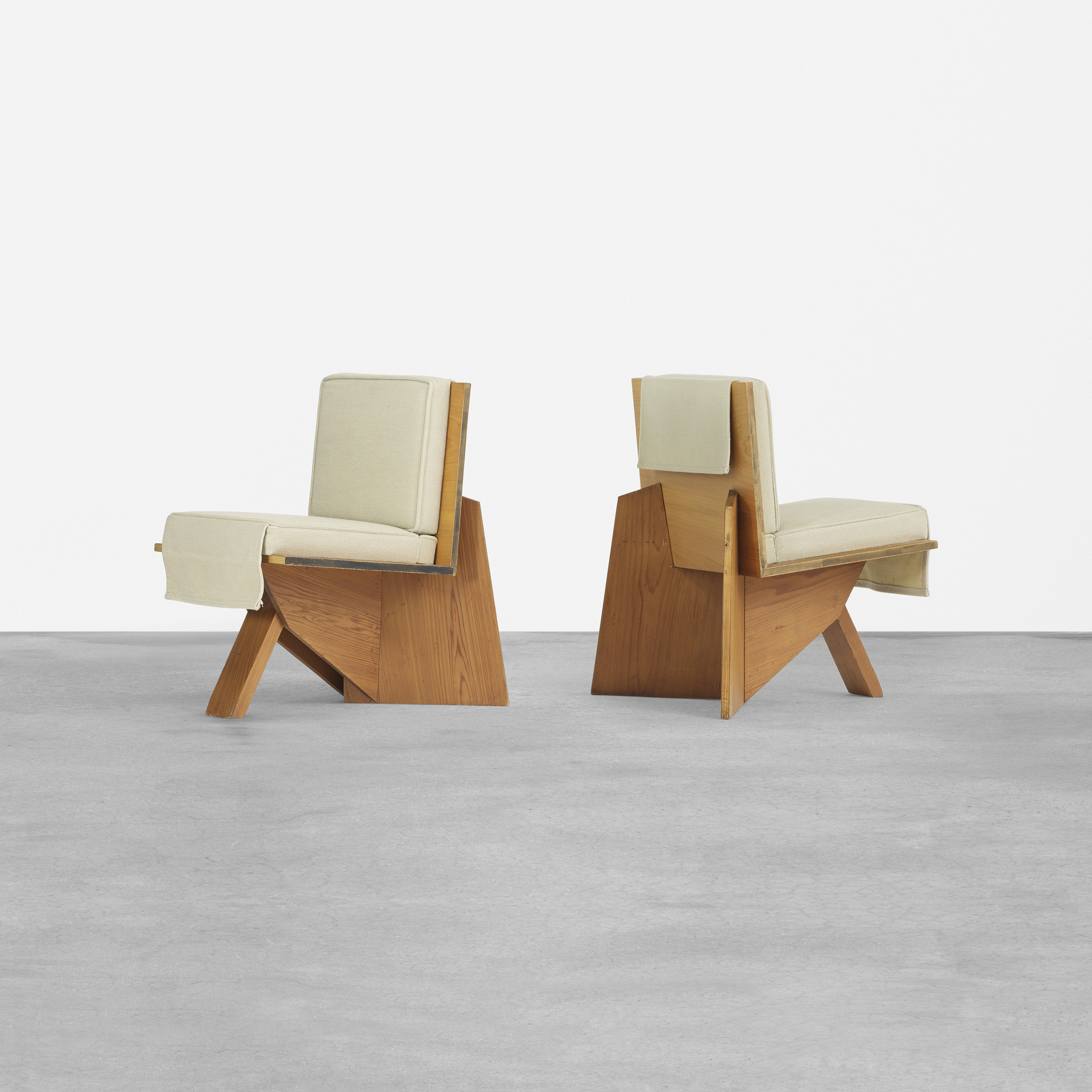 Frank Lloyd Wright Chairs 148 Frank Lloyd Wright Pair Of Lounge Chairs From The