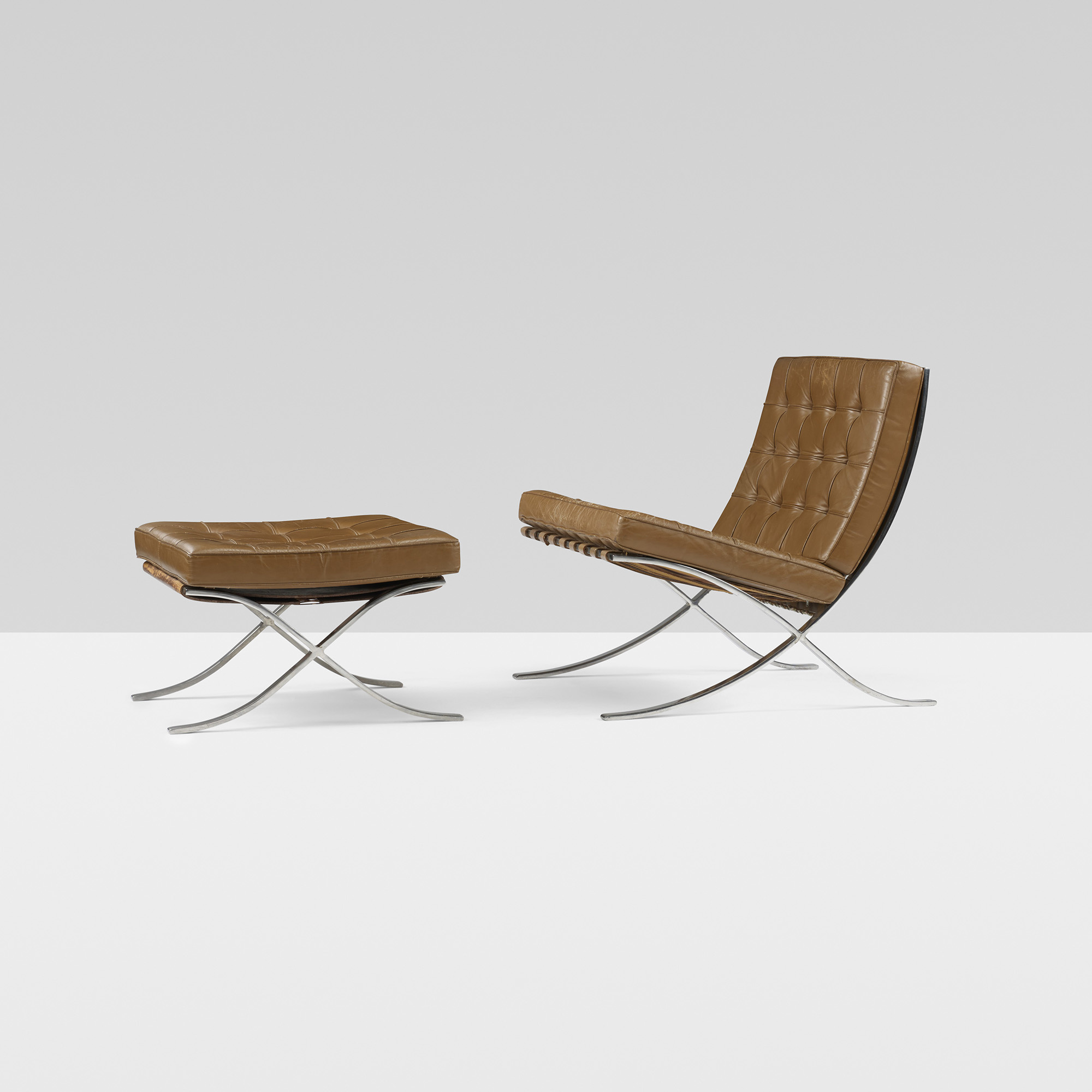 Barcelona Chairs For Sale 155 Ludwig Mies Van Der Rohe Pair Of Barcelona Chair And