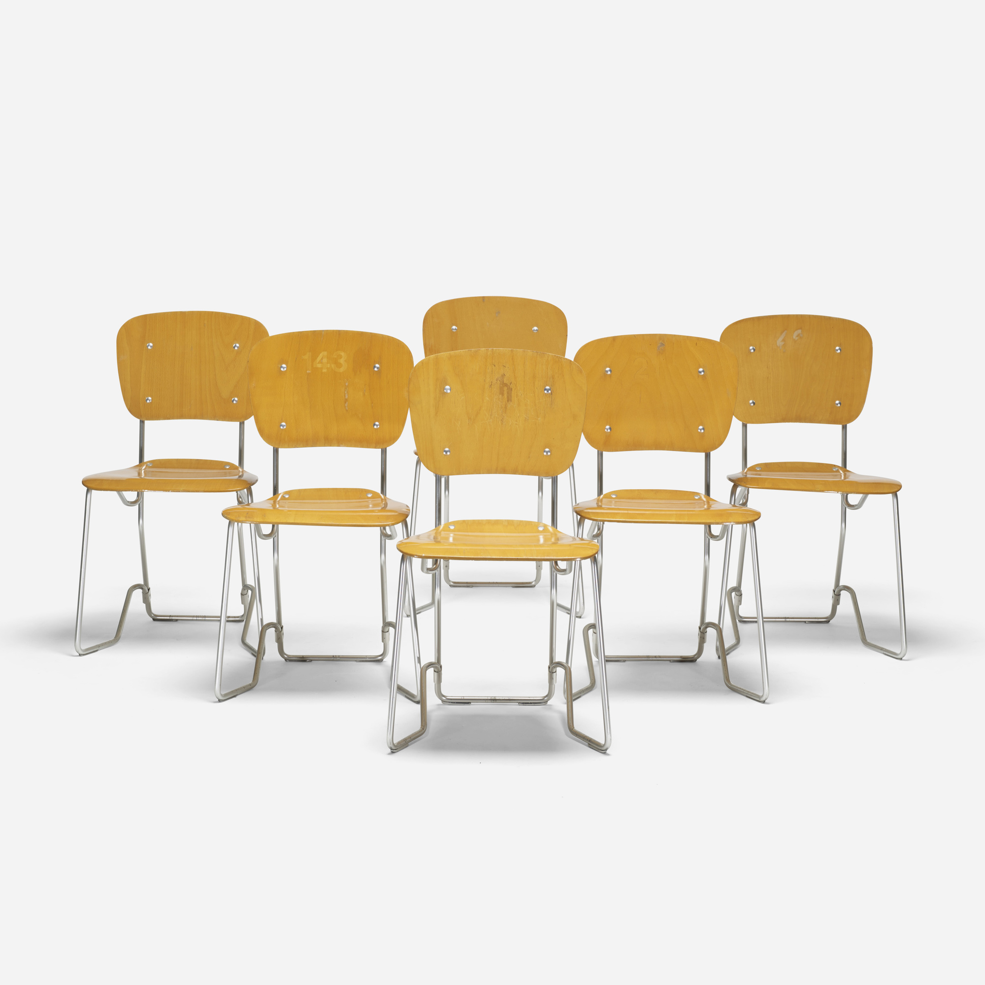 Flex Chairs 452 Armin Wirth Alu Flex Chairs Set Of Six Mass Modern 12