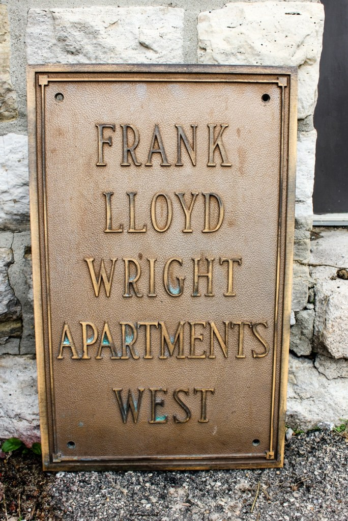 Frank Lloyd Wright Apartment Plaque