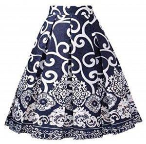 Pleated Midi Skirt | printed front