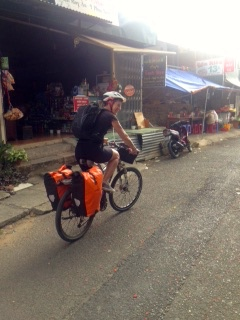 Riding out of Da Lat