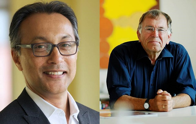<p>Ani Dasgupta (left), director of WRI Ross Center for Sustainable Cities. Jan Gehl (right), founding partner of Gehl Architects.</p>