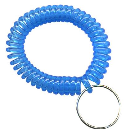 Transparent light blue wrist coils