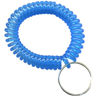 Transparent light blue wrist coils