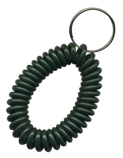Dark Green wrist coil key chains