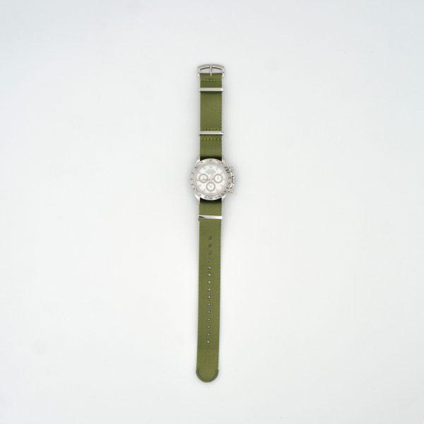 Fatigue-Green-steel-wrist-hardware-nylon-watch-strap-military-polyamide-fabric-replacement-strap