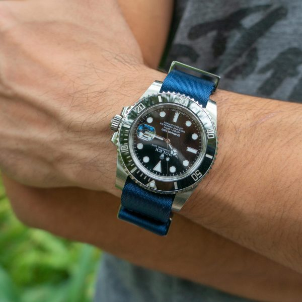 Wrist-hardware-navy-blue-nylon-watch-strap-polyamide-fabric-replacement-band-military-watch-strap-22mm-20mm