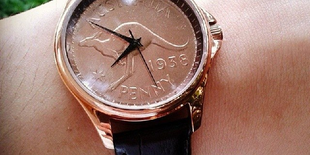 Australian Coin watch with Penny dial