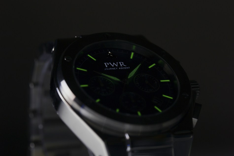 PWR Collective watch lume shot