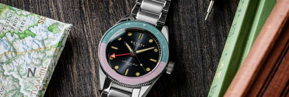 Batavi Watches Launches The Kosmopoliet GMT With Beautiful Colorways