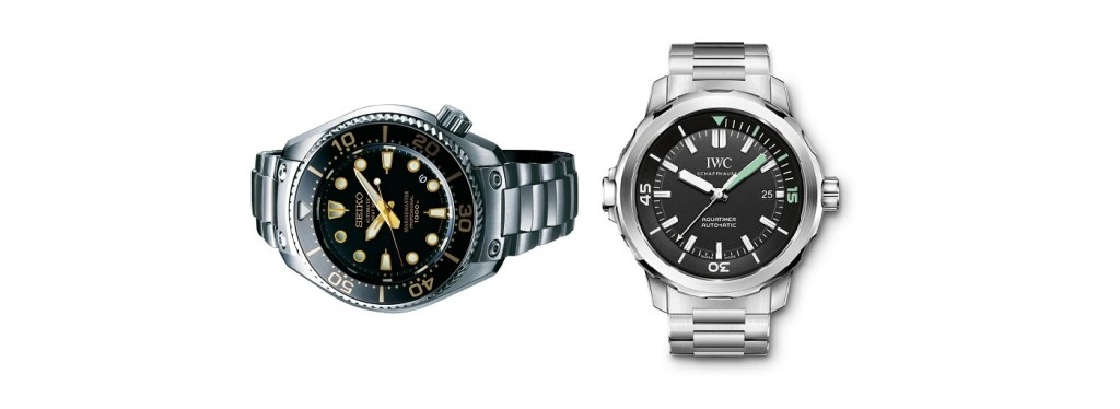 Clash of The Divers: Seiko Prospex Marinermaster SBEX001G Watch vs IWC Aquatimer IW329002 Watch